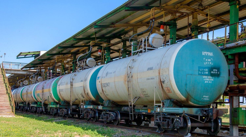 ОПЗ відновив прийом залізничних цистерн з товарним аміаком