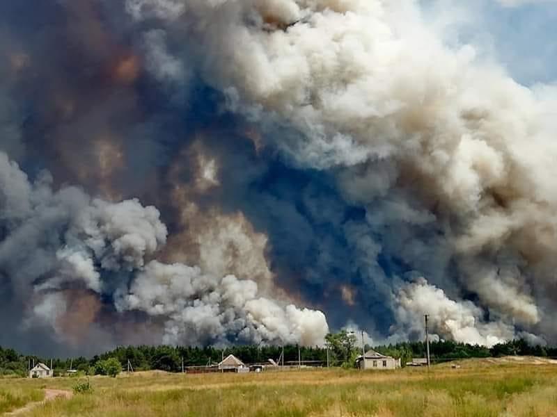 Пожежа на Луганщині сталася через підпал стерні агрономом — Геращенко