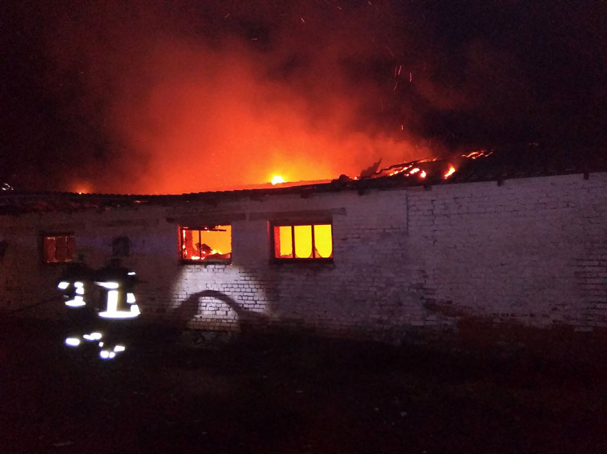 На Полтавщині сталася пожежа на фермі
